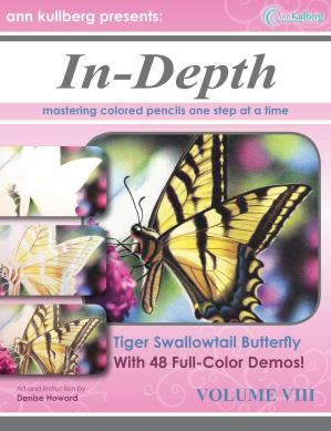Book cover In-Depth Colored Pencil Tutorial Tiger Swallowtail Butterfly