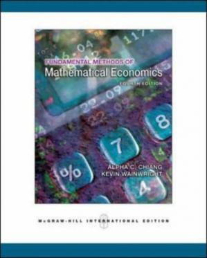 Book cover Fundamental Methods of Mathematical Economics, 4th Edition