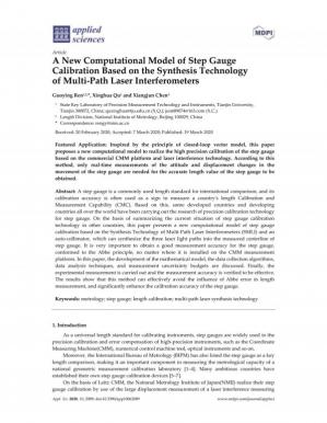 Book cover A New Computational Model of Step Gauge Calibration Based on the Synthesis Technology of Multi-Path Laser Interferometers