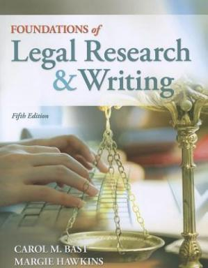 Εξώφυλλο βιβλίου Foundations of Legal Research and Writing