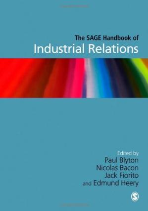 Book cover The SAGE Handbook of Industrial Relations