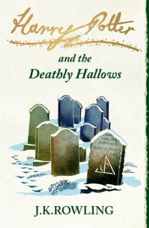 Book cover Harry Potter and the Deathly Hallows (UK edition)