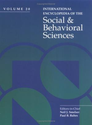 Kitap kapağı International Encyclopedia of Social and Behavioral Sciences
