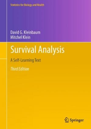 पुस्तक कवर Survival Analysis: A Self-Learning Text, Third Edition