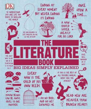 Book cover The Literature Book (Big Ideas Simply Explained)