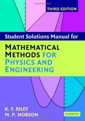 Copertina Student solutions manual for Mathematical methods for physics and engineering