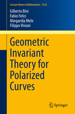 Book cover Geometric Invariant Theory for Polarized Curves