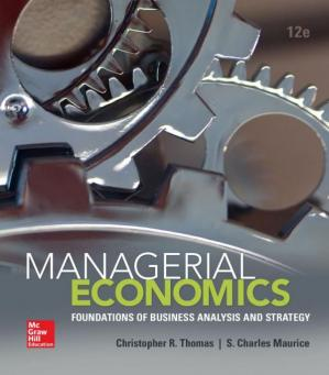 La couverture du livre Managerial Economics: Foundations of Business Analysis and Strategy