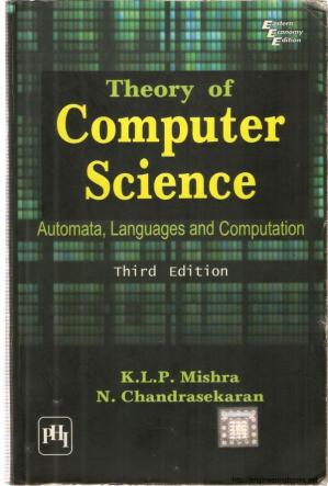 Book cover THEORY OF COMPUTER SCIENCE Automata, Languages and Computation