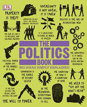Book cover The Politics Book (Big Ideas Simply Explained)