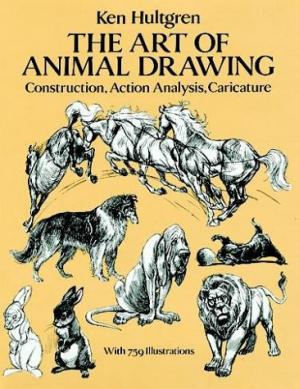 पुस्तक कवर The Art of Animal Drawing: Construction, Action Analysis, Caricature (Dover Books on Art Instruction, Anatomy)
