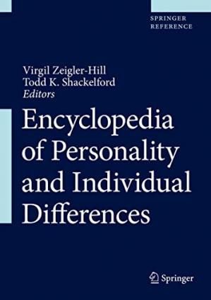 Book cover Encyclopedia of Personality and Individual Differences