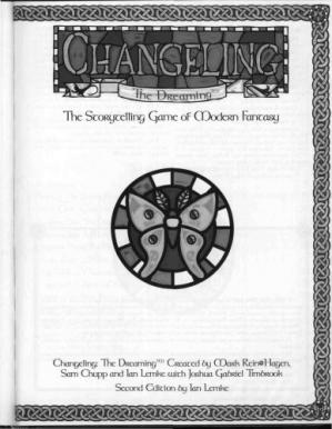 书籍封面 Changeling: The Dreaming, 2nd Edition