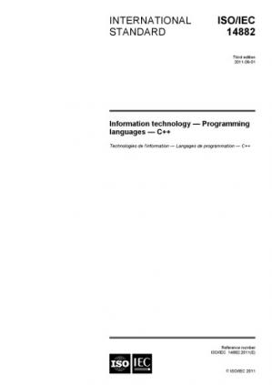 Book cover C++11 – ISO/IEC 14882:2011