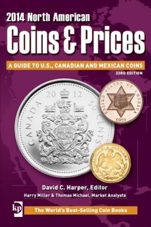 Book cover 2014 North American Coins & Prices  A Guide to U.S., Canadian and Mexican Coins