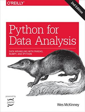 书籍封面 Python for Data Analysis: Data Wrangling with Pandas, NumPy, and IPython