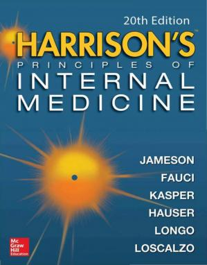 Portada del libro Harrison's Principles of Internal Medicine, 20th Edition (Volume I & II)