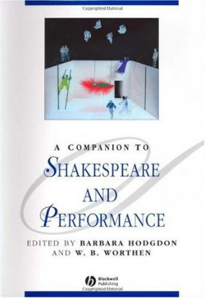书籍封面 A Companion to Shakespeare and Performance