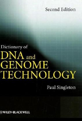 Bìa sách Dictionary of DNA and Genome Technology