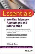 Portada del libro Essentials of working memory assessment and intervention