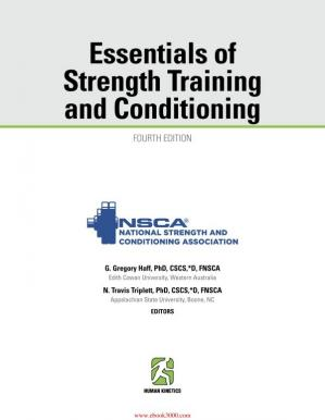 Okładka książki Essentials of Strength Training and Conditioning 4th Edition With Web Resource