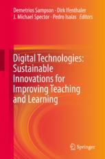Book cover  Digital Technologies: Sustainable Innovations for Improving Teaching and Learning