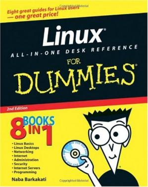 Book cover Linux All-in-One Desk Reference For Dummies (For Dummies (Computer/Tech))