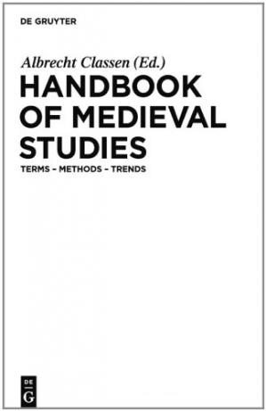 A capa do livro Handbook of Medieval Studies: Terms - Methods - Trends