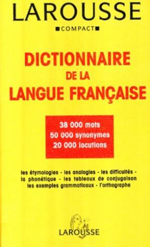 Εξώφυλλο βιβλίου Dictionnaire de la langue francaise