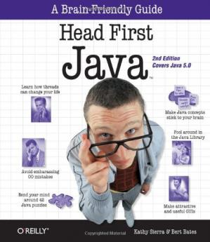 Book cover Head First Java