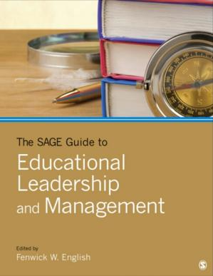 A capa do livro The SAGE Guide to Educational Leadership and Management