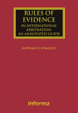 Okładka książki Rules of Evidence in International Arbitration: An Annotated Guide