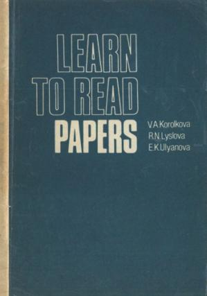 Book cover Learn to read papers