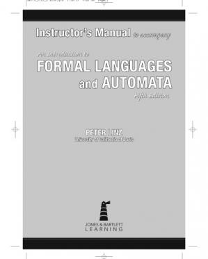 Book cover Instructor's Manual Formal languages and Automata