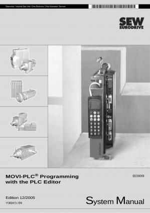 Book cover MOVI-PLC® Programming with PLC Editor / Manuals / 2005-12