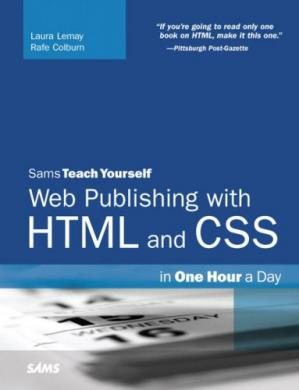 Book cover Sams Teach Yourself Web Publishing with HTML and CSS in One Hour a Day (5th Edition)