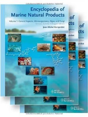 A capa do livro Encyclopedia of Marine Natural Products (3-Volume Set)