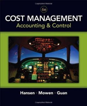 A capa do livro Cost Management: Accounting and Control, 6th Edition