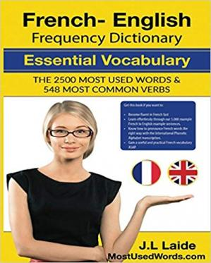 Обкладинка книги French English Frequency Dictionary - Essential Vocabulary: 2500 Most Used Words & 548 Most Common Verbs