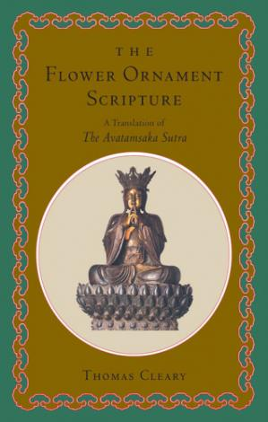 A capa do livro The Flower Ornament Scripture: A Translation of the Avatamsaka Sutra