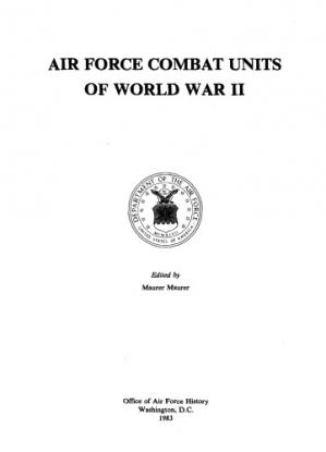 Book cover Air Force combat units of World War II