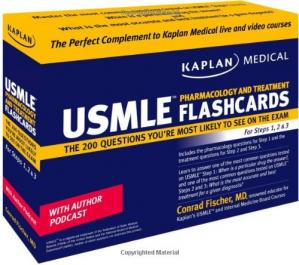 Book cover USMLE Pharmacology and Treatment Flashcards: The 200 Questions You're Most Likely to See on the Exam For Steps 1, 2 & 3