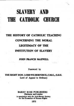 Book cover Slavery and the catholic church