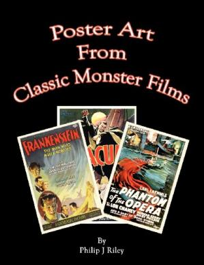 Book cover Poster Art from the Classic Monster Films