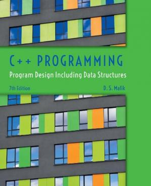 Book cover Malik, D:  C++ Programming