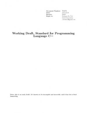 Book cover ISO IEC 14882 2011 Programming Languages C++ N3376 - Multi - ISO. Working Draft, Standard for Programming Language C++