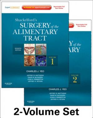A capa do livro Shackelford's Surgery of the Alimentary Tract