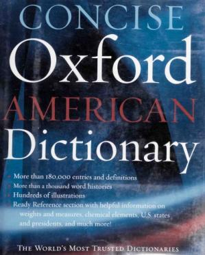 Book cover Concise Oxford American Dictionary
