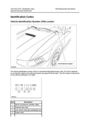 A capa do livro 2003 (1999 - 2004) Ford Mustang Service Manual