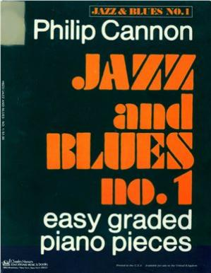 Book cover Jazz and Blues No. 1 - Easy Graded Piano Pieces